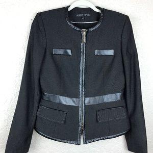 Albert Nipon black & white jacket